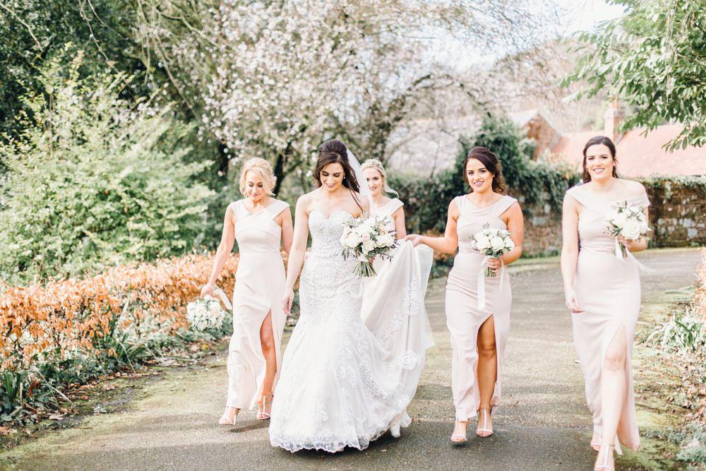 Bridesmaids Dress Dresses Pale Pink Long Maxi Llanrhaeadr Springs Wedding Jessica Reeve Photography