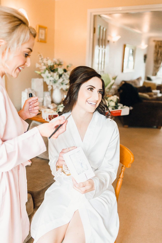 Bride Bridal Prep Make Up Llanrhaeadr Springs Wedding Jessica Reeve Photography