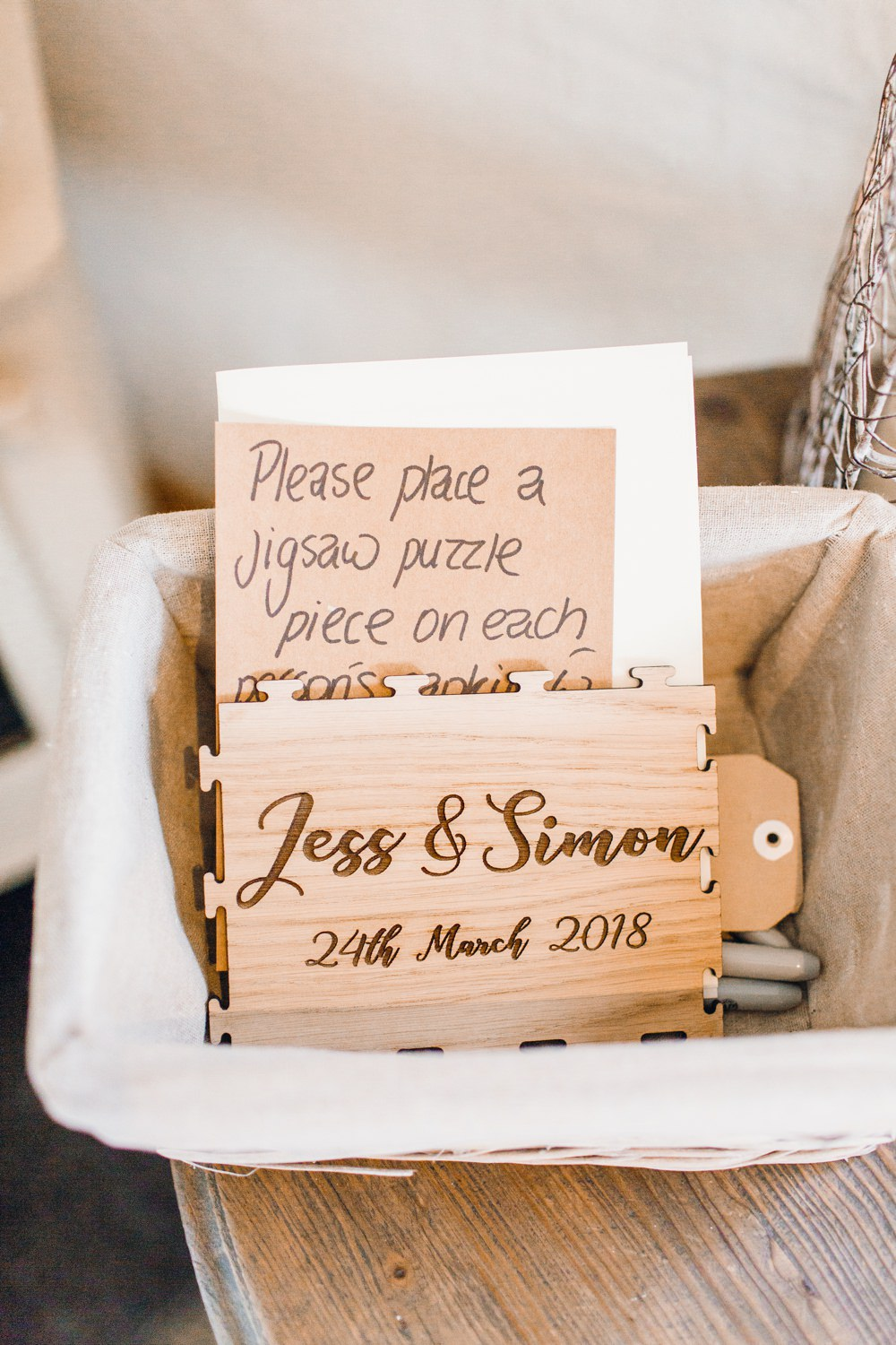 Jigsaw Puzzle Guest Book Llanrhaeadr Springs Wedding Jessica Reeve Photography
