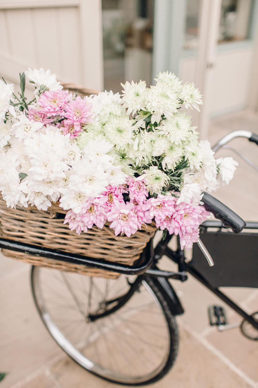 Bike Bicycle Basket Flowers Decor Llanrhaeadr Springs Wedding Jessica Reeve Photography