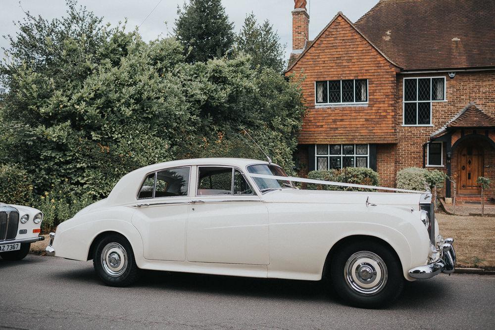 Classic Car Vintage Transport Loseley Park Wedding Kit Myers Photography