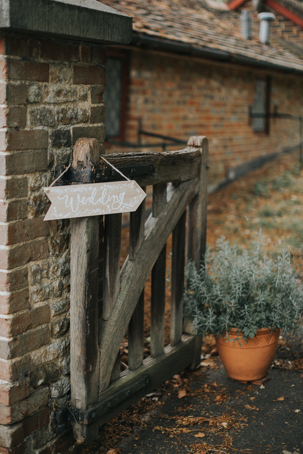 Wedding Sign Post Direction Wooden Arrow Loseley Park Wedding Kit Myers Photography