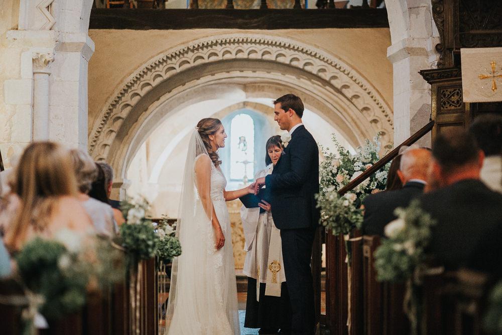Bride Bridal Sleeveless Embroidered Three Piece Suit Navy Grey Waistcoat Groom Veil Loseley Park Wedding Kit Myers Photography