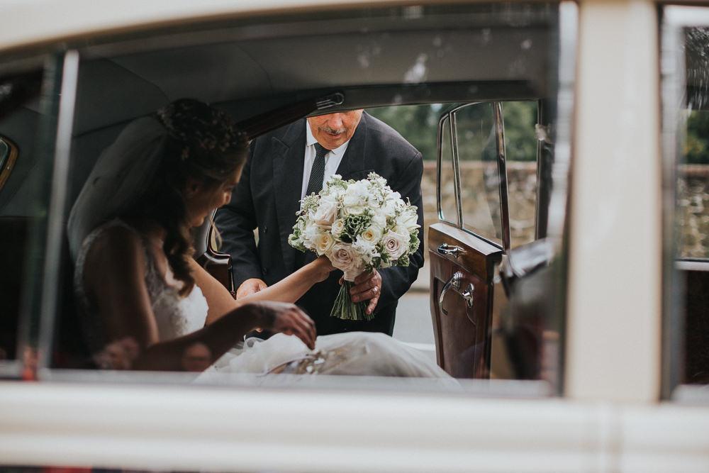 Blush White Bride Bridal Bouquet Loseley Park Wedding Kit Myers Photography