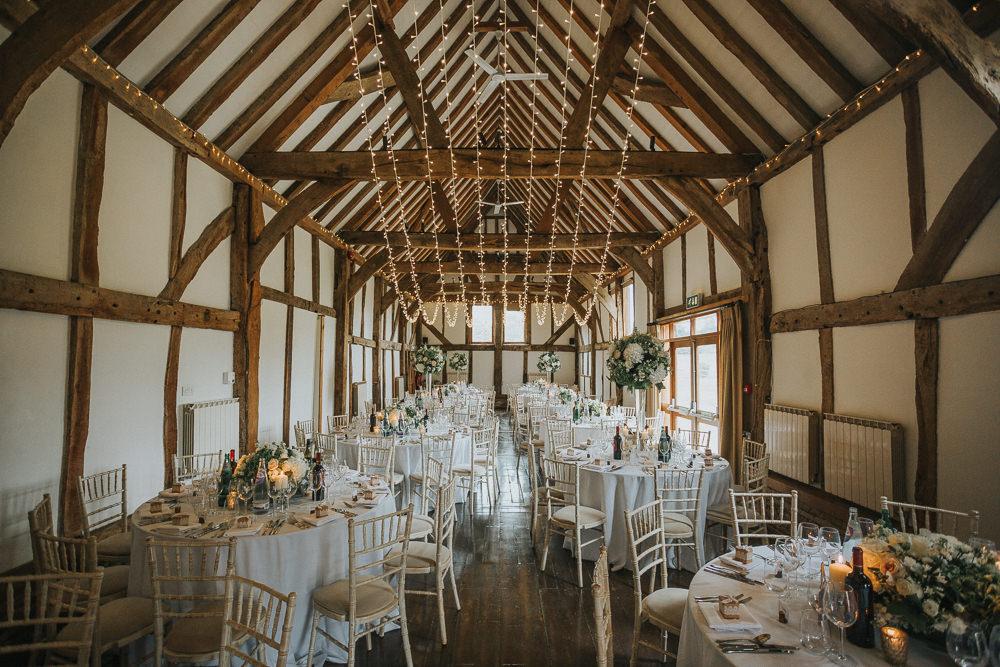 Barn Fairy Light Canopy Loseley Park Wedding Kit Myers Photography