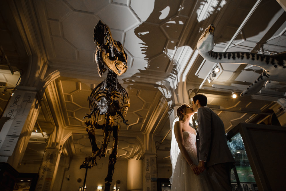 Bride Bridal Watters Sweetheart Neckline A Line Strapless Embellished Veil Blue Grey Ted Baker Suit Groom Manchester Museum Wedding Chris Barber Photography