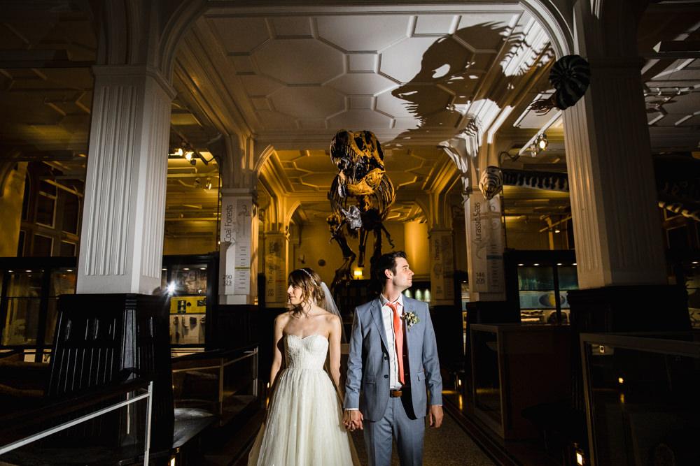 Bride Bridal Watters Sweetheart Neckline A Line Strapless Embellished Veil Blue Grey Ted Baker Suit Groom Manchester Museum Wedding Chris Barber Photography