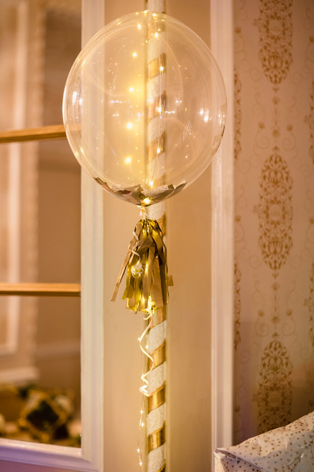 Confetti Balloon Gold Tassel Manchester Museum Wedding Chris Barber Photography
