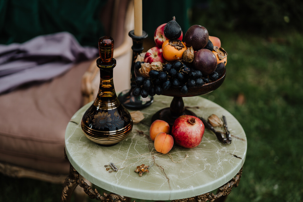Fruit Decor Table Pylewell Park Wedding New Forest Studio