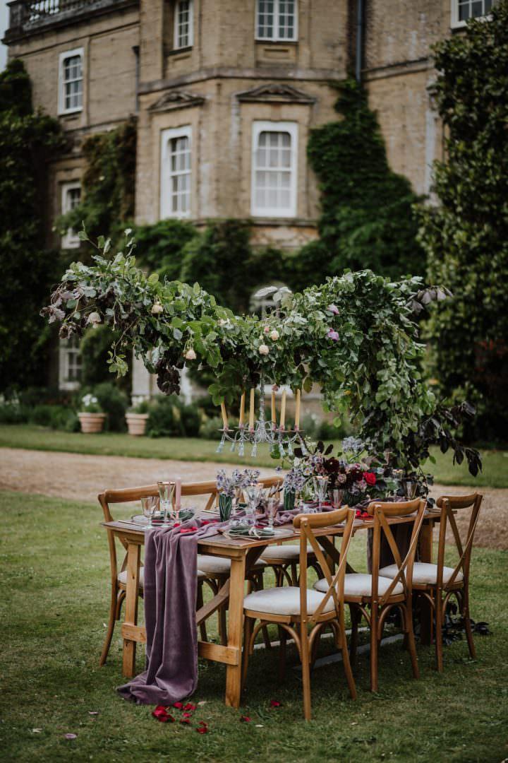 Opulent Violet Wedding Ideas With A Cloud Flower