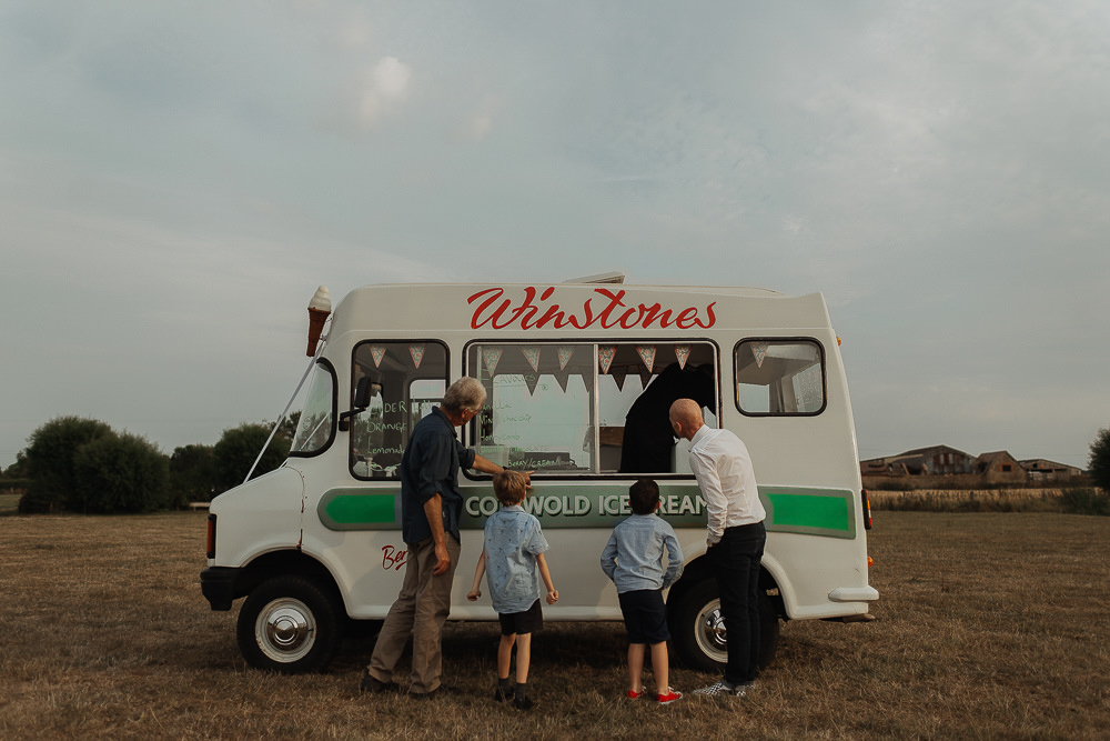 Ice Cream Van Truck Riverside Weddings Oxfordshire Yurt Luis Calow Photographer