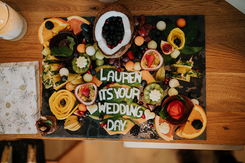 Breakfast Tray Food Art Day Morning Prep Fruit Scandi Foliage Wedding Ross Alexander Photography