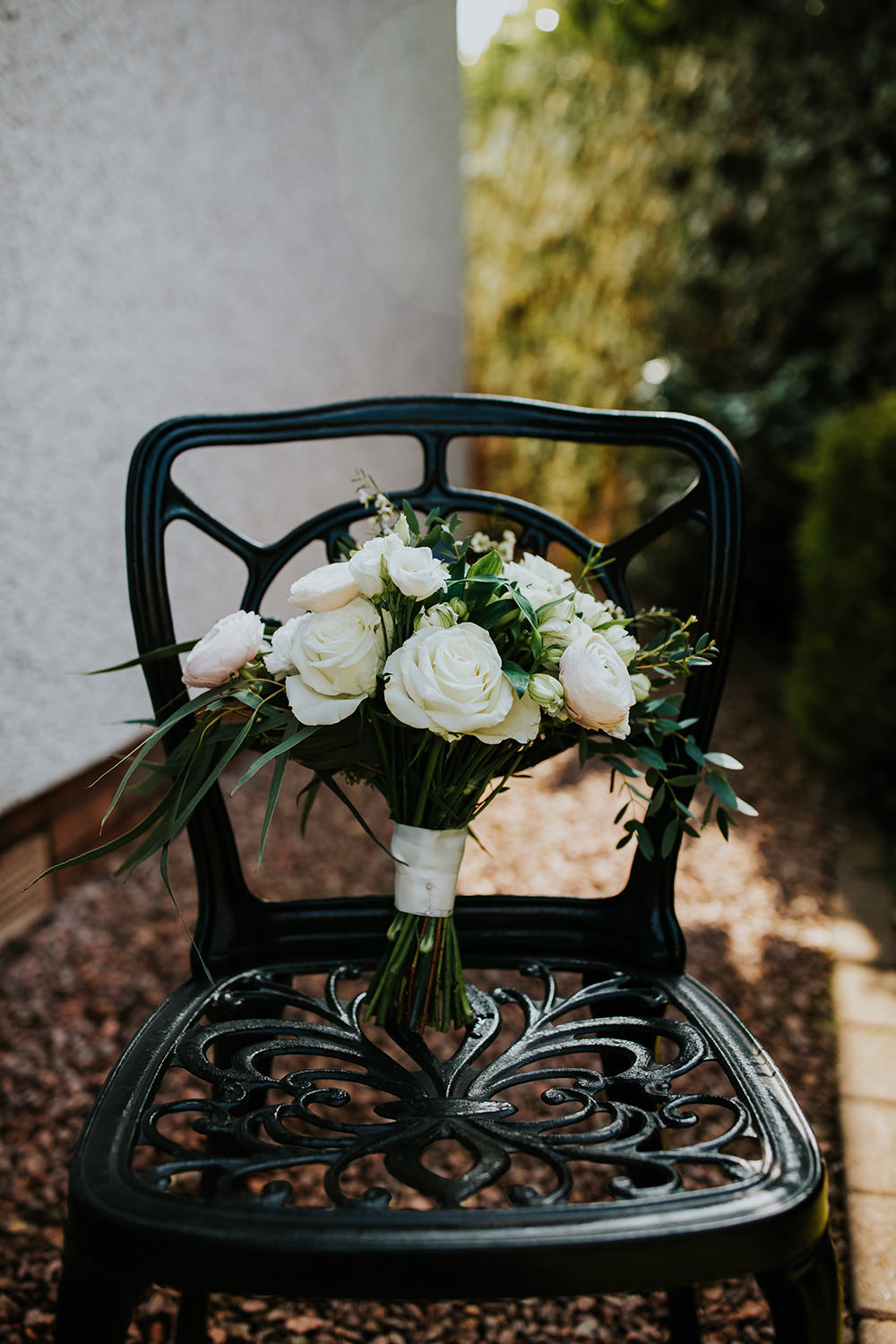 Bouquet Flowers Bride Bridal Rose Cream Greenery Foligage Scandi Foliage Wedding Ross Alexander Photography