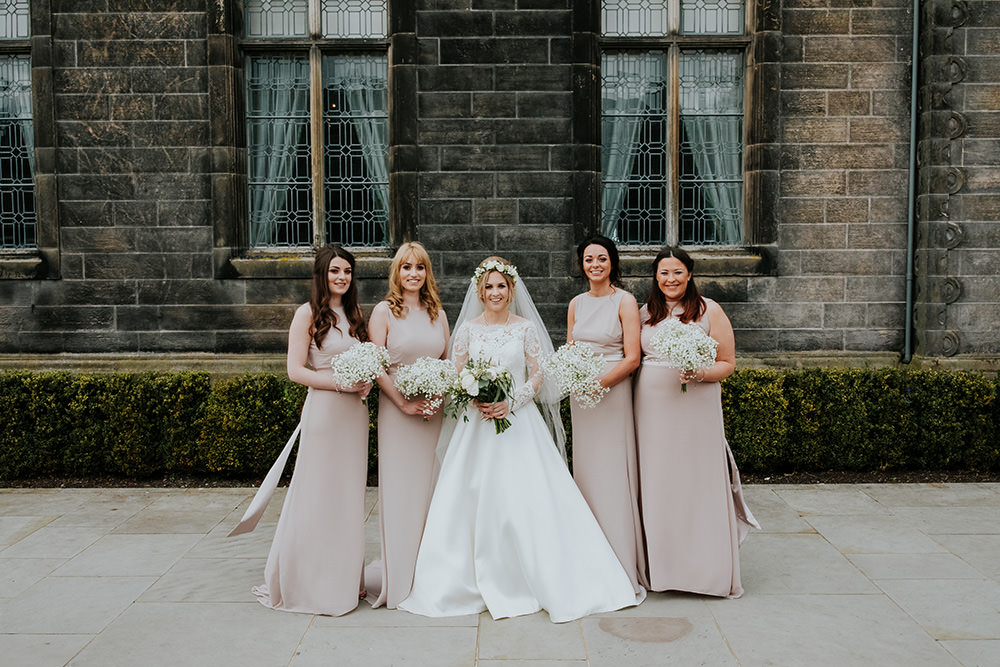 Bridesmaids Dress Dresses Long Pink Maxi Pale Scandi Foliage Wedding Ross Alexander Photography