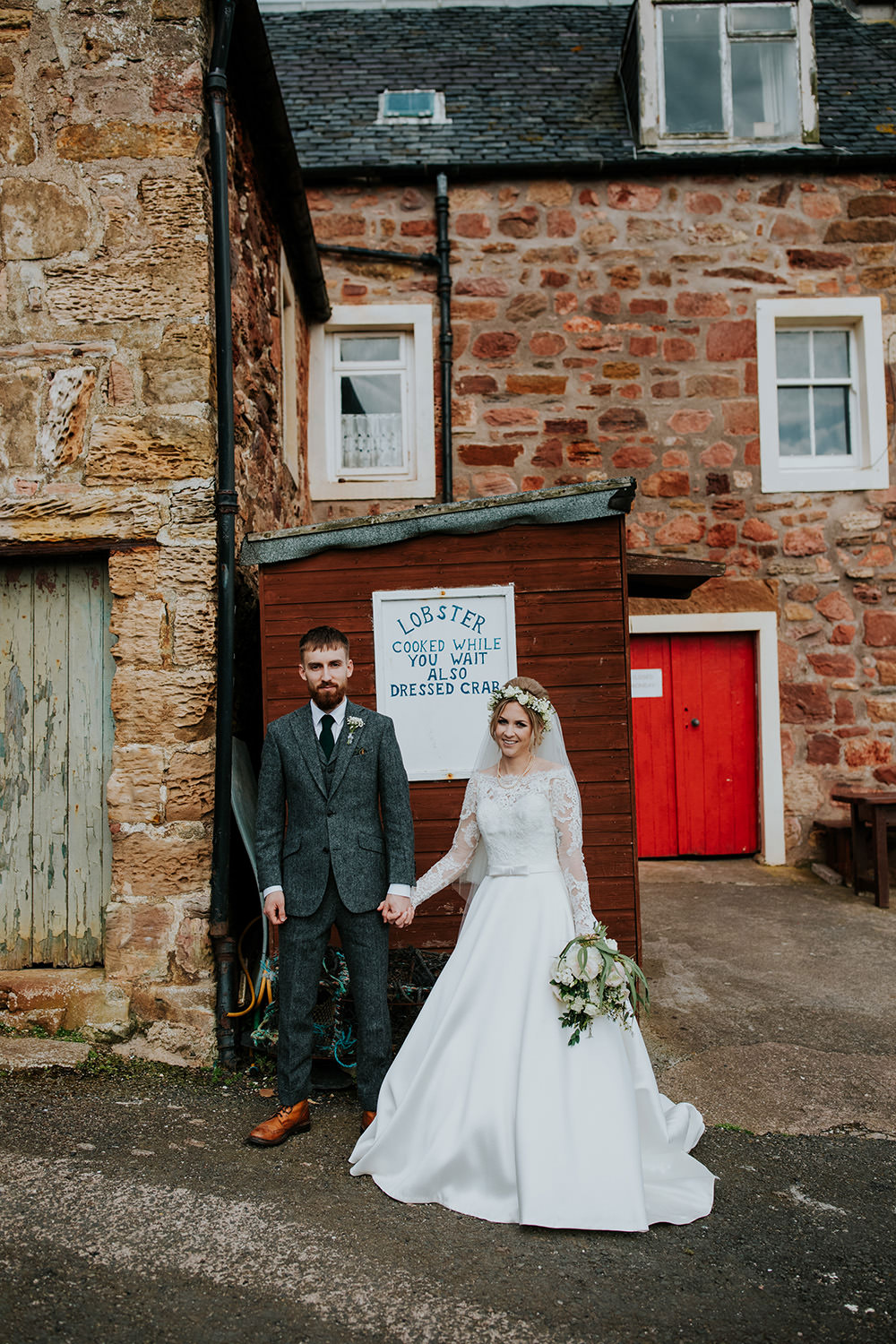 Groom Suit Grey Wool Green Tie Scandi Foliage Wedding Ross Alexander Photography