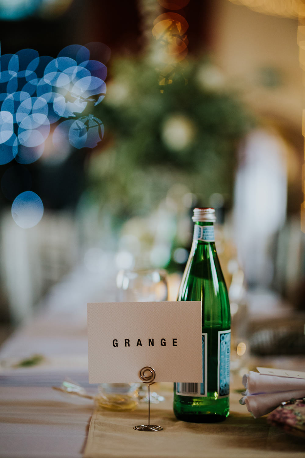 Table Name Simple Scandi Foliage Wedding Ross Alexander Photography