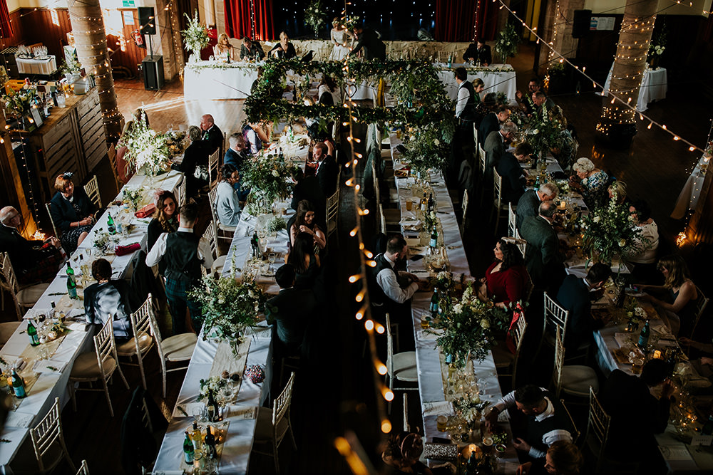 Greenery Flower Backdrop Top Table Scandi Foliage Wedding Ross Alexander Photography