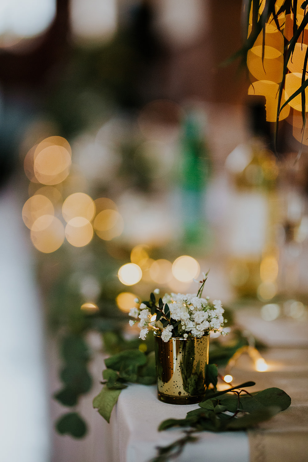 Table Runner Garland Swag Greenery Fairy Lights Scandi Foliage Wedding Ross Alexander Photography