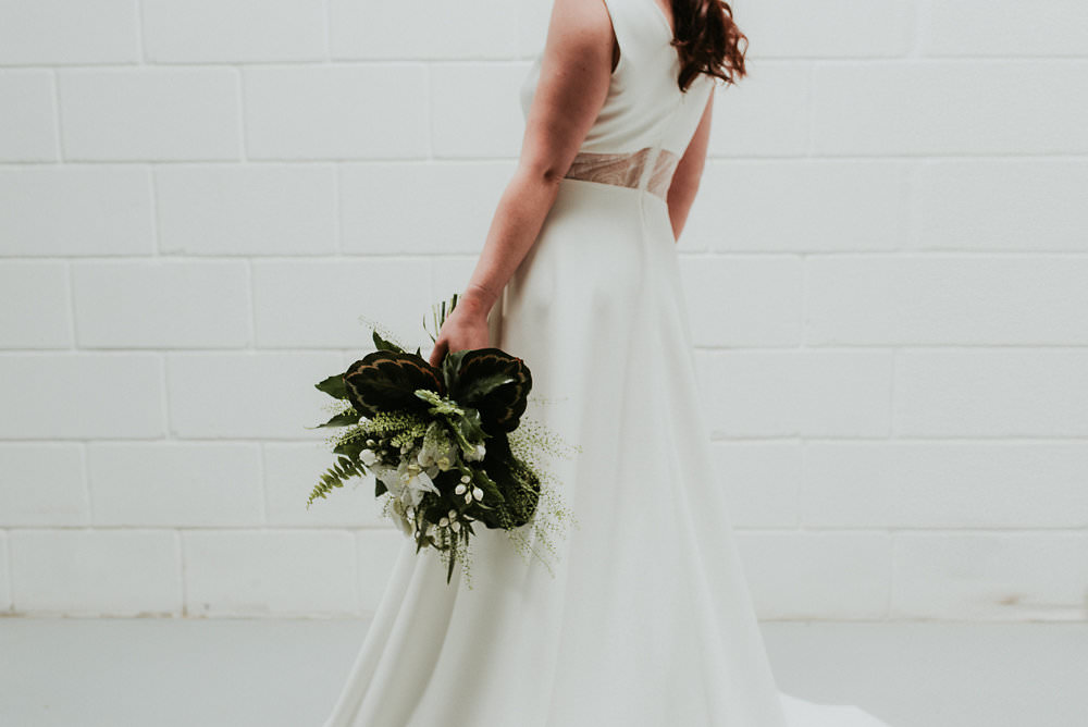 Dress Gown Bride Bridal Sheer Pockets Scandinavian Mid Century Minimal Wedding Ideas Rachel Lou Photography