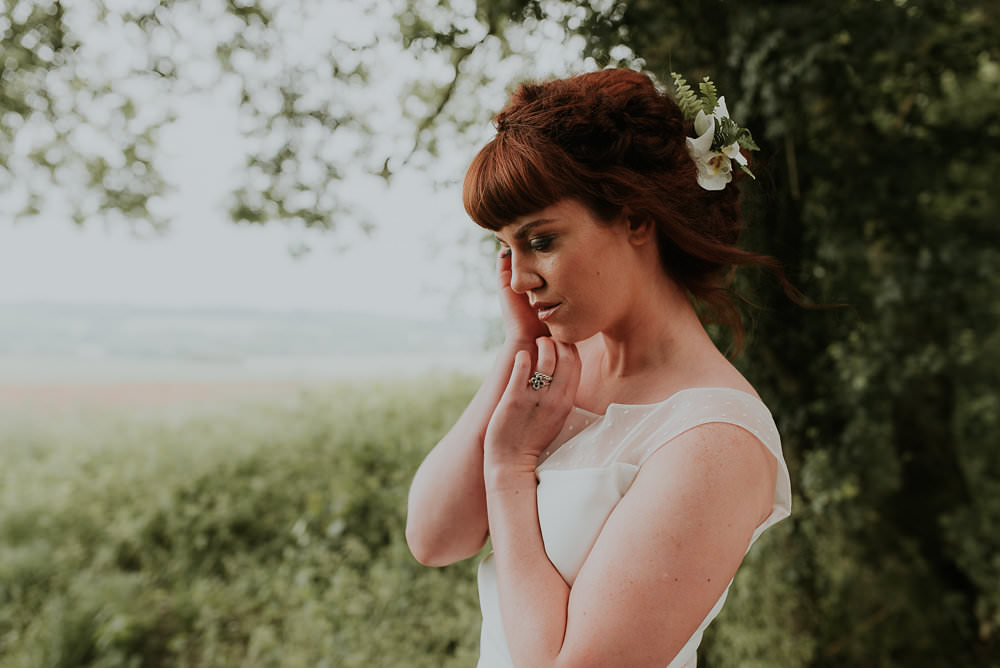 Hair Make Up Bride Bridal Flowers Scandinavian Mid Century Minimal Wedding Ideas Rachel Lou Photography