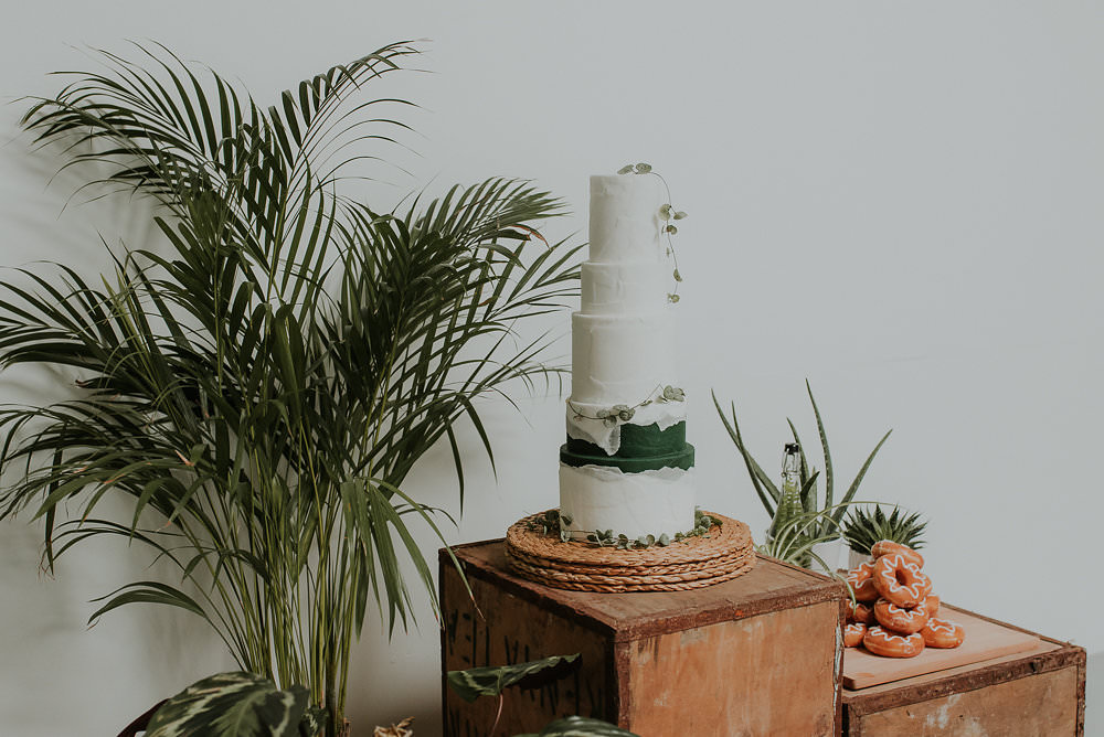 Iced Cake Modern Greenery Foliage Scandinavian Mid Century Minimal Wedding Ideas Rachel Lou Photography
