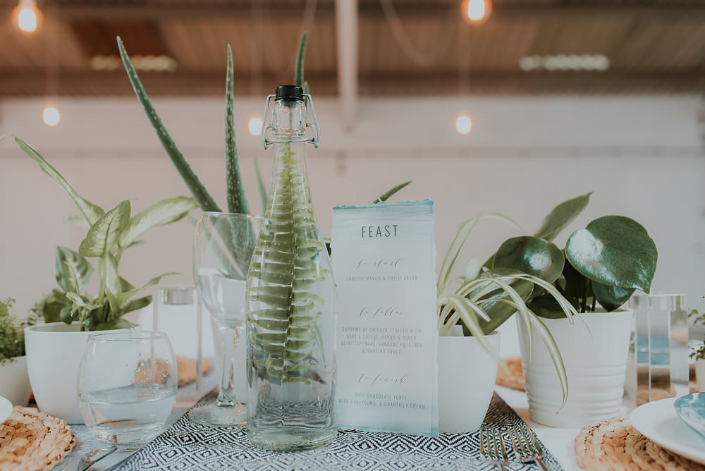 Tablescape Decor Table House Plants Succulents Foliage Greenery Scandinavian Mid Century Minimal Wedding Ideas Rachel Lou Photography