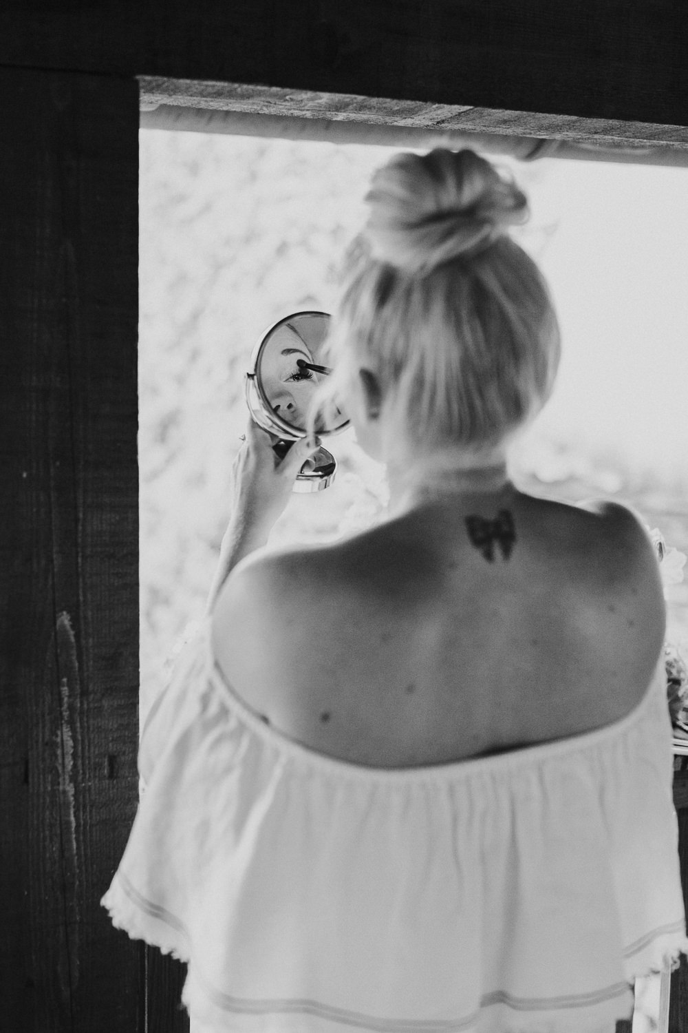Bride Bridal Hair High Bun Style Slovenia Wedding Bohemian Maja Tsolo Photography