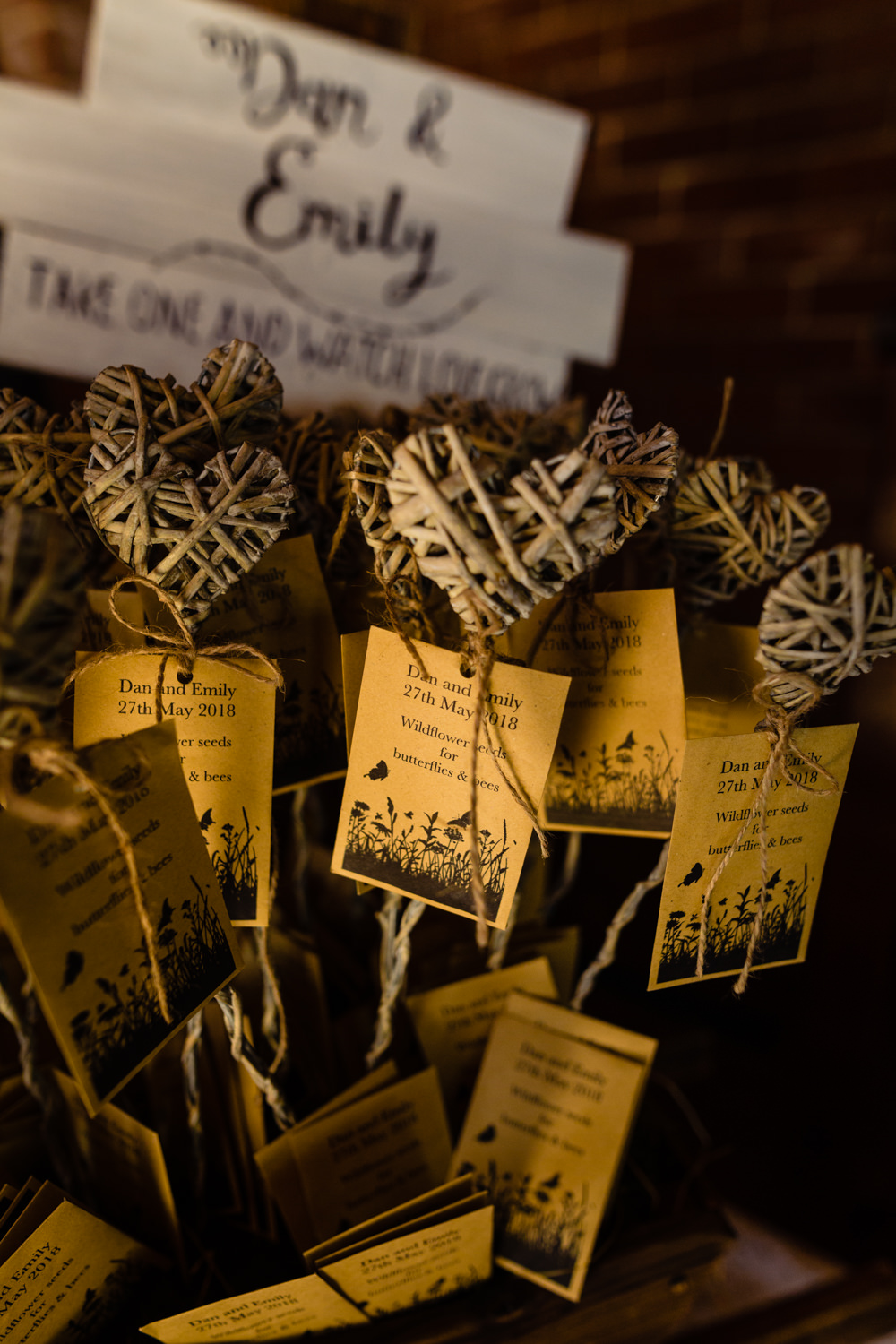Wildflower Seed Favours Stepney Hill Farm Wedding Emma + Rich Photography