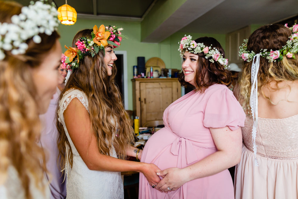 Pregnant Bridesmaid Stepney Hill Farm Wedding Emma + Rich Photography