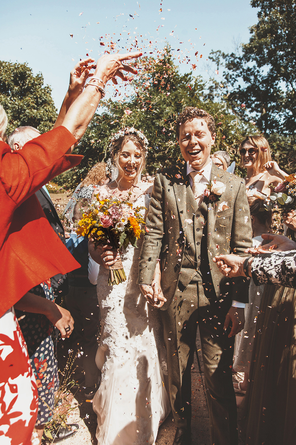 Confetti Throw Summer Sunflower Rustic Wedding Masha Unwerth