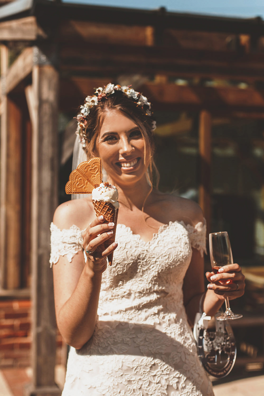Ice Cream Summer Sunflower Rustic Wedding Masha Unwerth