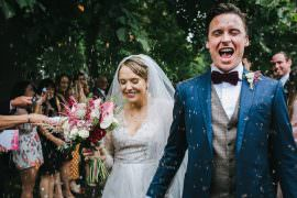 Confetti Throw Tipi Garden Wedding Amy Jordison Photography