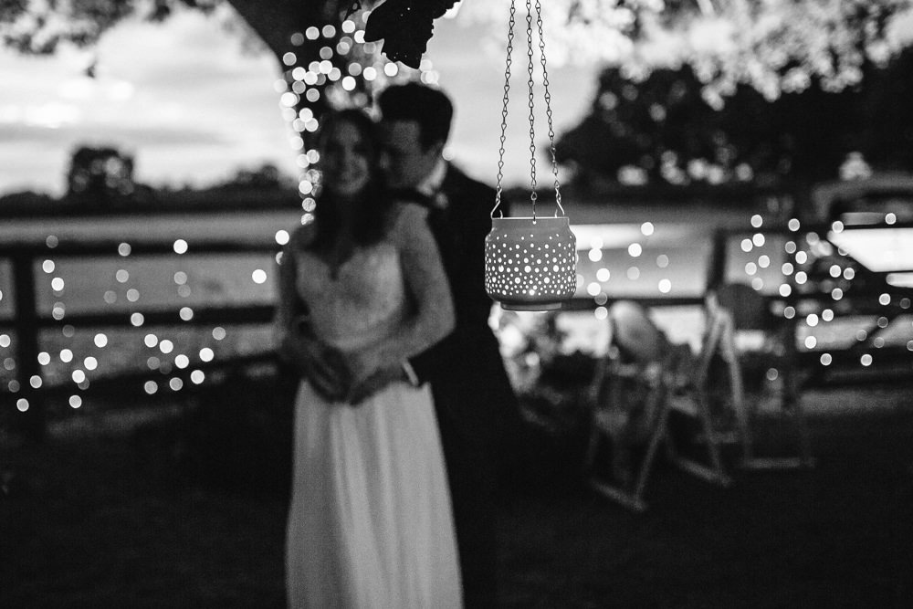 Fairy Lights Candles Bride Groom Tipi Garden Wedding Amy Jordison Photography