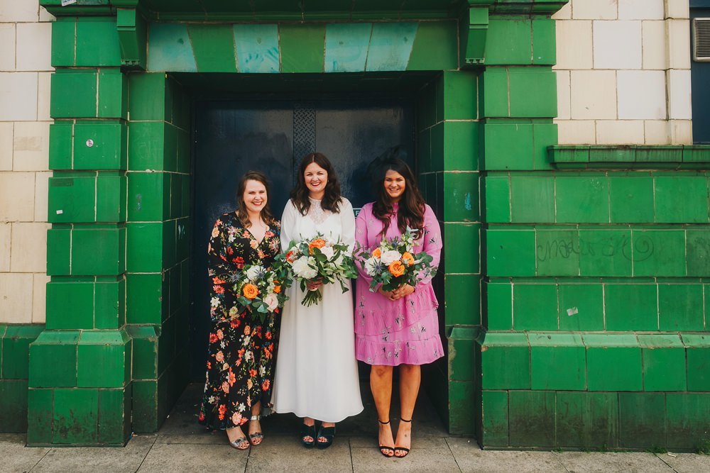 Mismatched Bridesmaid Dresses Victoria Warehouse Wedding Manchester Kate McCarthy Photography
