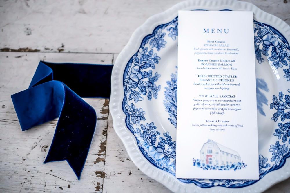 White Sparrow Barn Wedding White Blue Ideas Si Creative Photography