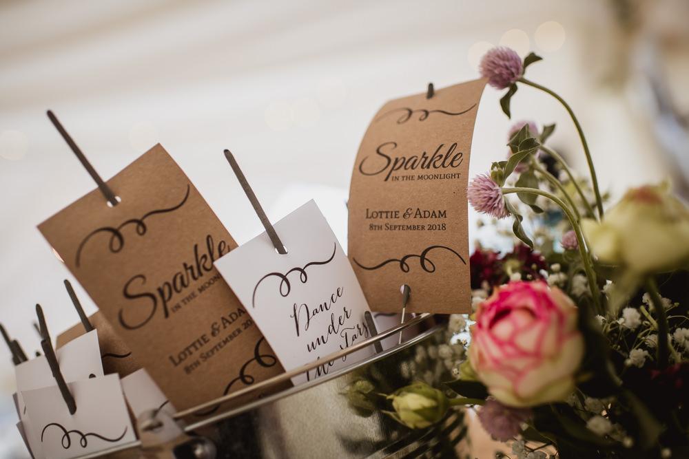Sparklers Sparkle Wilkswood Farm Wedding Robin Goodlad Photography