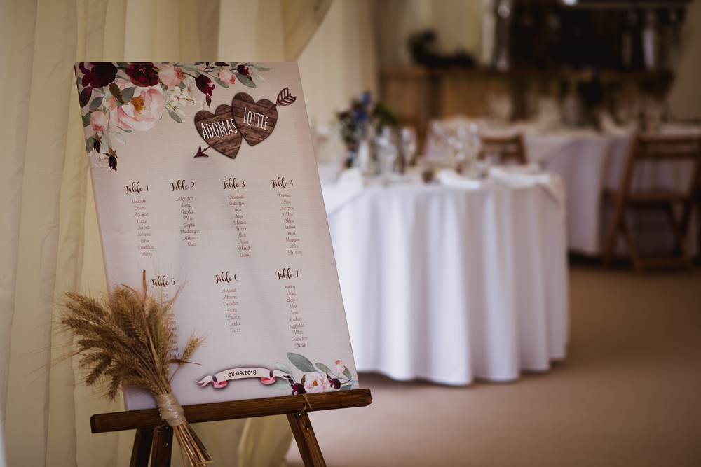 Table Plan Seating Chart Wheat Wilkswood Farm Wedding Robin Goodlad Photography
