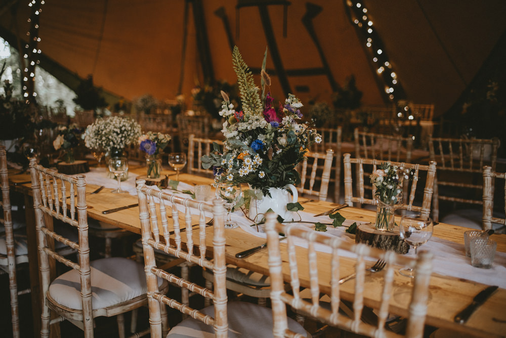 Long Rustic Wooden Tables Flowers Decor Applewood Wedding Flawless Photography