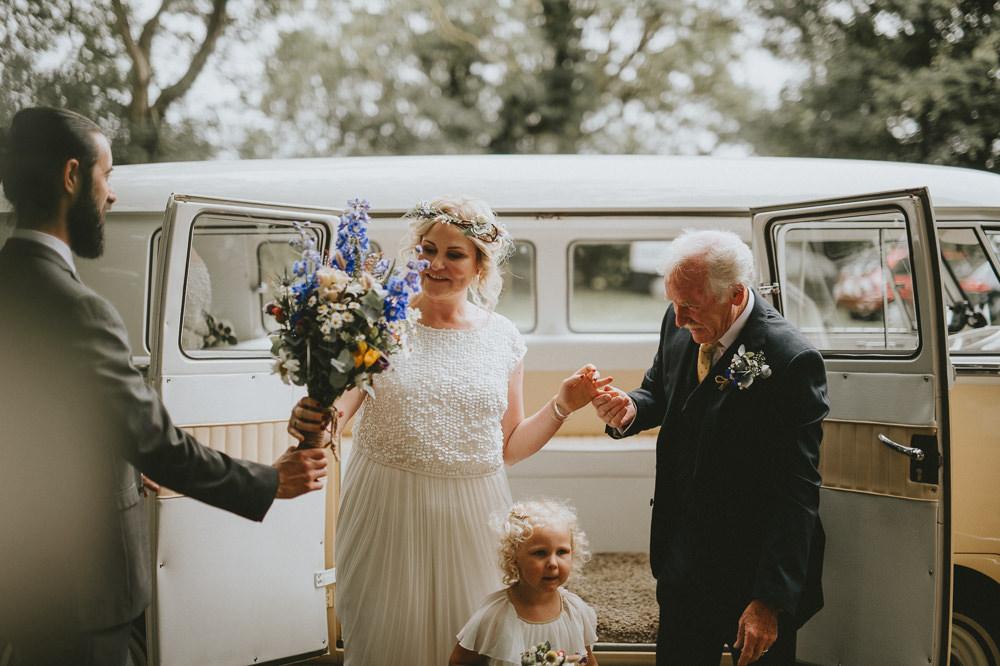 VW Campervan Transport Applewood Wedding Flawless Photography