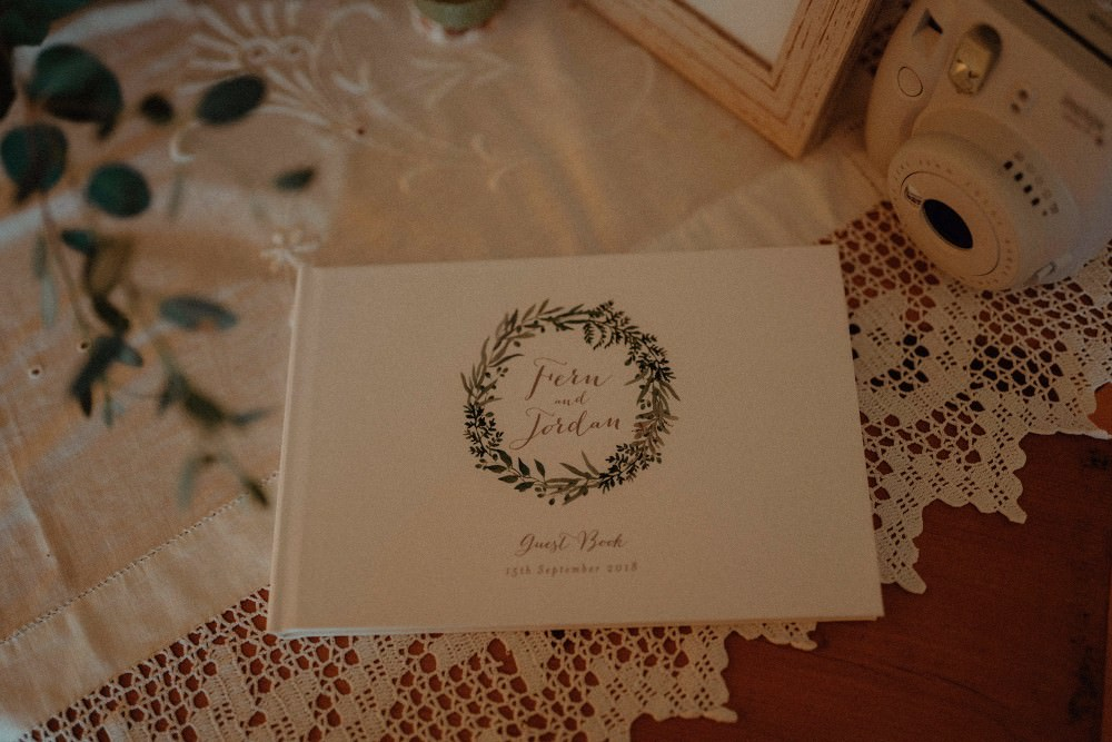Botanical Guest Book Autumn Dark Red Wedding Belle Art Photography