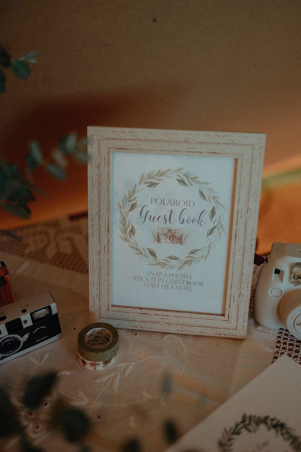 Guest Book Sign Autumn Dark Red Wedding Belle Art Photography