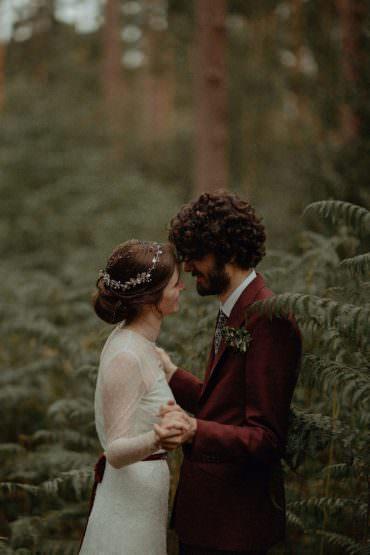 Autumn Dark Red Wedding Belle Art Photography