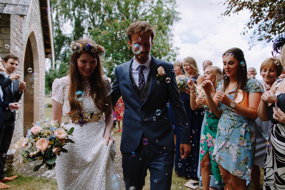 Bubble Confetti Boho Festival Wedding Matt Bowen Photography