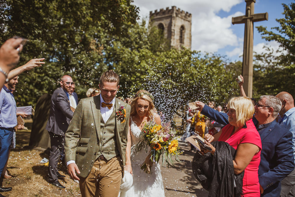 Confetti Throw Cannon Hall Wedding Neil Jackson Photographic