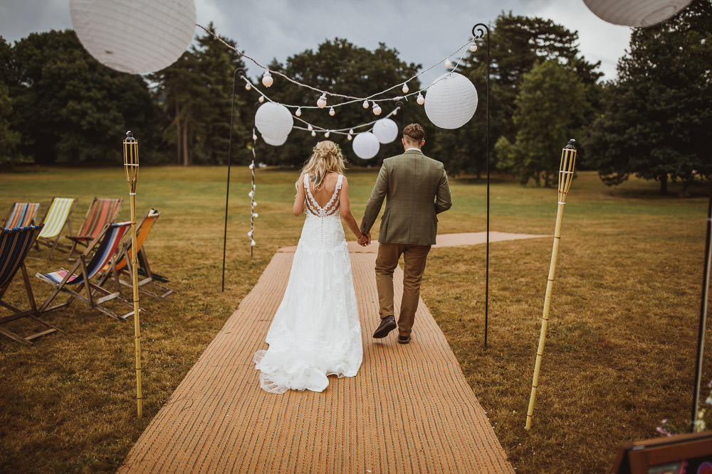 Lantern Festoon Lights Tipi Cannon Hall Wedding Neil Jackson Photographic