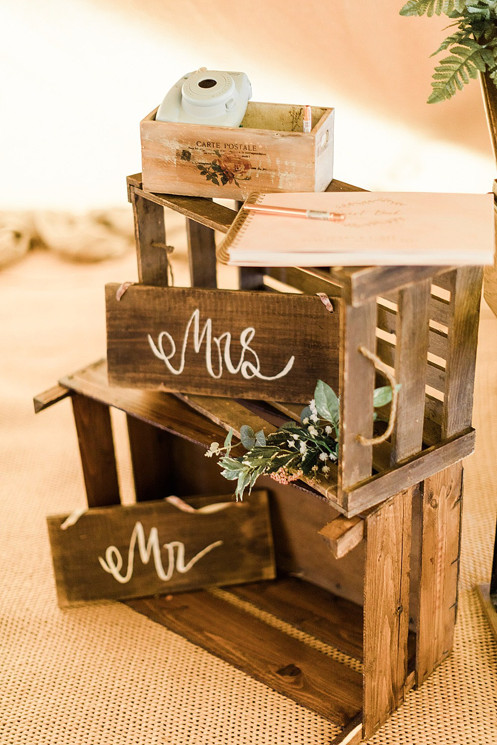 Wooden Rustic Crates Decor Sign Chiltern Open Air Museum Wedding Terri & Lori Fine Art Photography