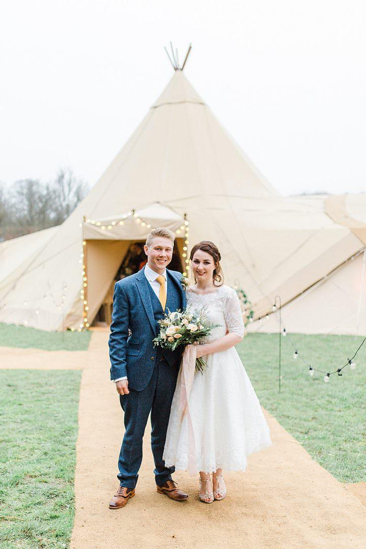 Tipi Outdoor Festoon Lights Chiltern Open Air Museum Wedding Terri & Lori Fine Art Photography