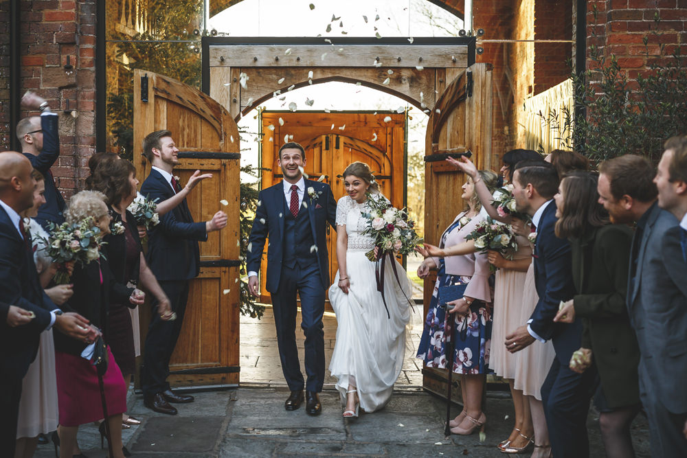 Confetti Throw Christmas Wedding Gareth Newstead Photography