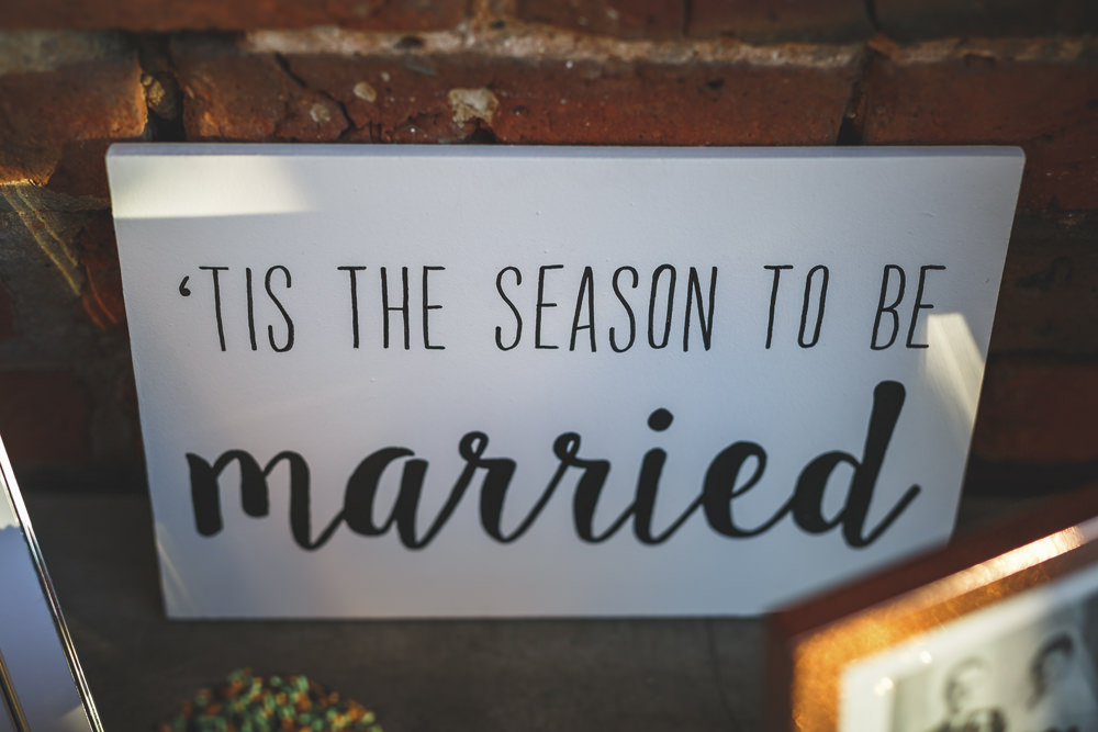 Sign Signage Christmas Wedding Gareth Newstead Photography