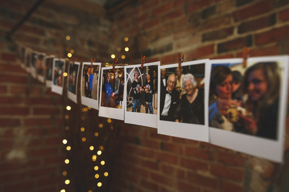Polariod Photos Peg Line Christmas Wedding Gareth Newstead Photography